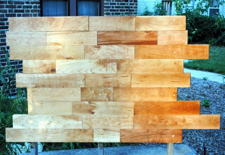 Cherry flooring headboard.